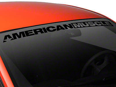 AmericanMuscle Windshield Banner - Black (94-04 All)
