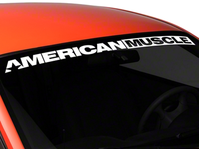 AmericanMuscle Windshield Banner - White (94-04 All)