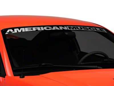 AmericanMuscle Windshield Decal - Silver