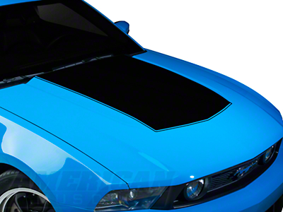 Black Boss Style Hood Decal (10-12 GT, V6)