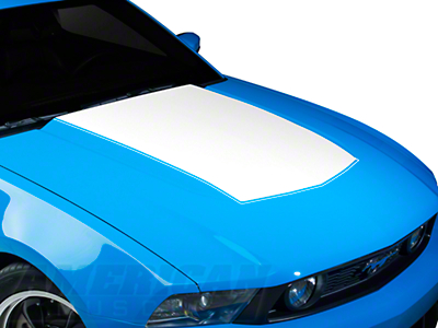 White Boss Style Hood Decal (10-12 GT, V6)