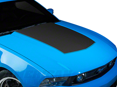 Matte Black Boss Style Hood Decal (10-12 GT, V6)