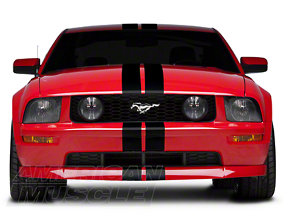Black GT500 Style Stripes - 5in (05-14 All)