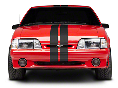 Matte Black GT500 Style Stripes - 5 in. (79-93 All)