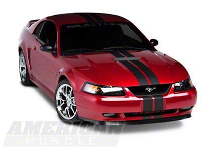 Matte Black GT500 Style Stripes - 5 in. (94-04 All)