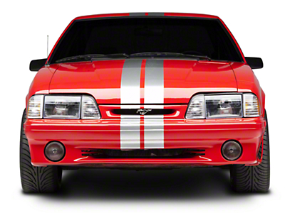 Silver GT500 Style Stripes - 5in (79-93 All)