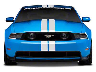 White GT500 Style Stripes - 5in (79-14 All)