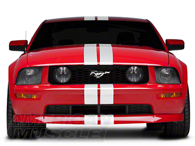 White GT500 Style Stripes - 5in (05-14 All)