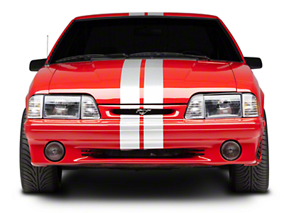 White GT500 Style Stripes - 5 in. (79-93 All)