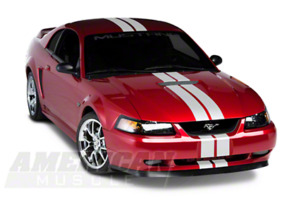 White GT500 Style Stripes - 5 in. (94-04 All)