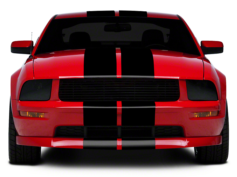 Black GT500 Style Stripes - 10 in. (05-14 All)
