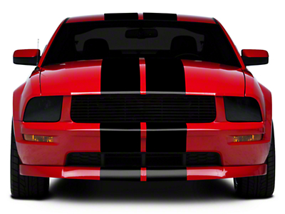 Black GT500 Style Stripes - 10in (05-14 All)