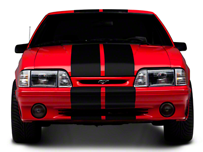 Black GT500 Style Stripes - 10in (79-93 All)