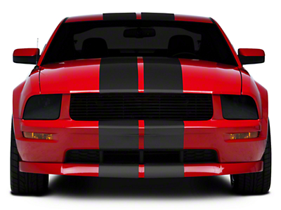 Matte Black GT500 Style Stripes - 10in (05-14 All)