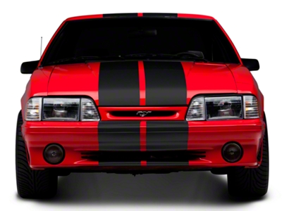 Matte Black GT500 Style Stripes - 10 in. (79-93 All)