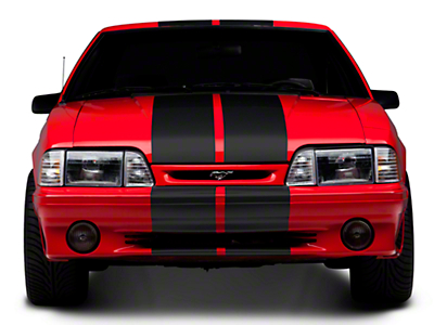 Matte Black GT500 Style Stripes - 10in (79-93 All)