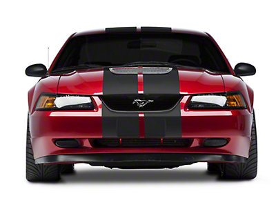 Matte Black GT500 Style Stripes - 10in (94-04 All)
