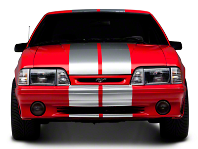 Silver GT500 Style Stripes - 10in (79-93 All)