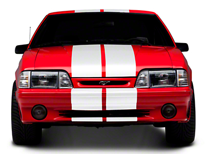 White GT500 Style Stripes - 10in (79-93 All)