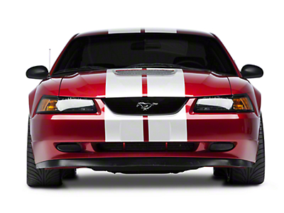 White GT500 Style Stripes - 10 in. (94-04 All)