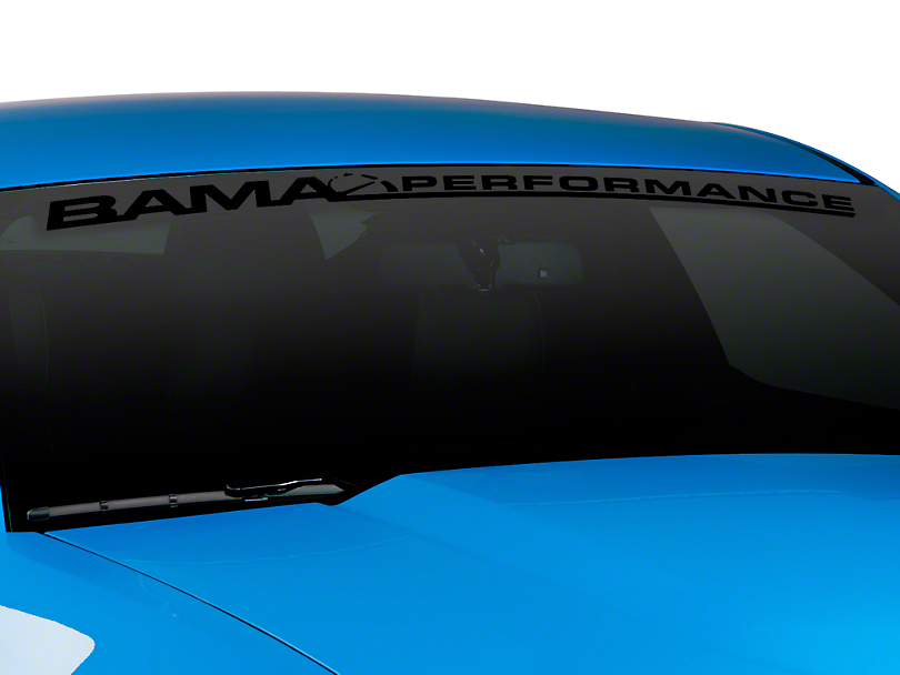 Bama Performance Windshield Banner - Black (79-16 All)