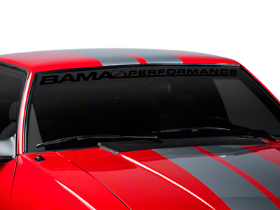 Bama Performance Windshield Banner - Black (79-93 All)