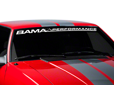 Bama Performance Windshield Banner - White (79-93 All)