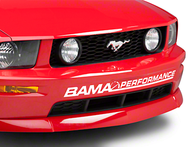 Bama Performance Front Bumper Decal - White (05-12 All)