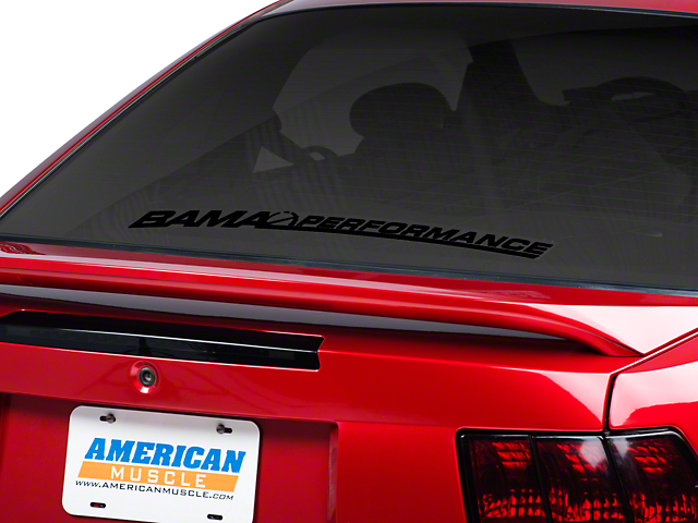 Bama Performance Lower Windshield Decal - Black (79-16 All)
