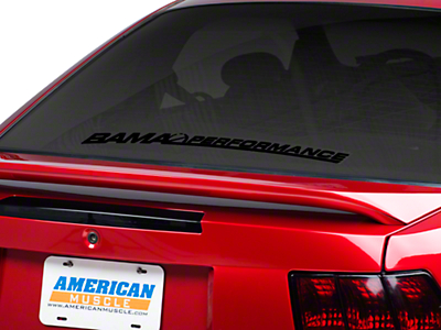 Bama Performance Lower Windshield Decal - Black (79-14 All)