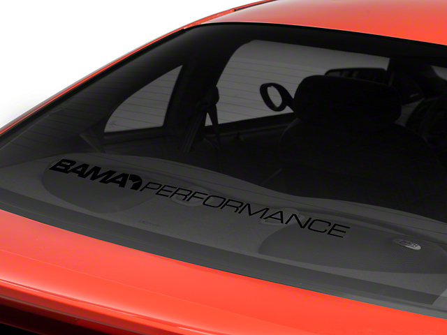 Bama Performance Lower Windshield Decal - Black (94-04 All)