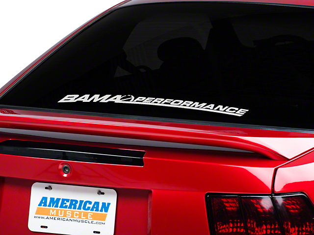 Bama Performance Lower Windshield Decal - White (79-16 All)