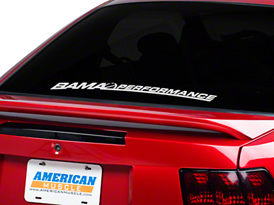 Bama Performance Lower Windshield Decal - White (79-14 All)