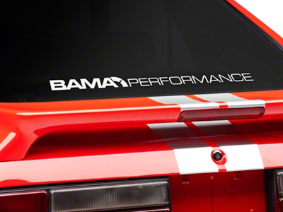 Bama Performance Lower Windshield Decal - White (79-93 All)
