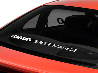 Bama Performance Lower Windshield Decal - White (94-04 All)