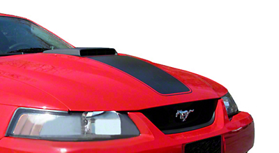 Matte Black Mach 1 Hood Decal (79-12 All)