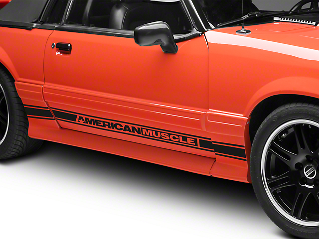 Matte Black Rocker Stripes w/ AmericanMuscle (79-93 All)