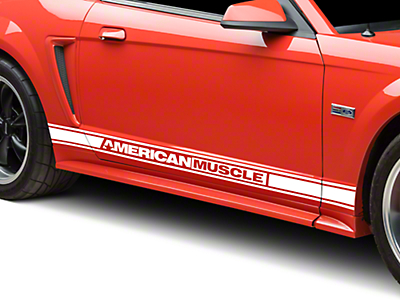 White Rocker Stripes w/ American Muscle (94-04 All)