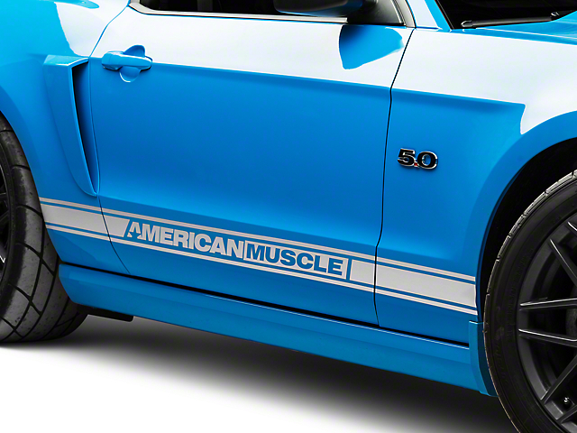 Silver Rocker Stripes w/ AmericanMuscle (05-14 All)