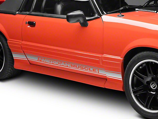 Silver Rocker Stripes w/ AmericanMuscle (79-93 All)