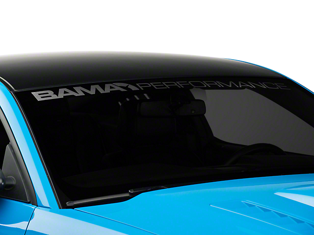 Bama Performance Windshield Banner - Frosted (05-14 All)