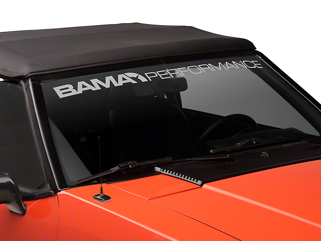 Bama Performance Windshield Banner - Frosted (79-93 All)