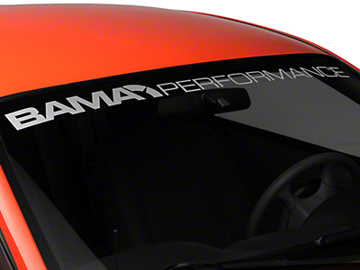 Bama Performance Windshield Banner - Frosted (94-04 All)