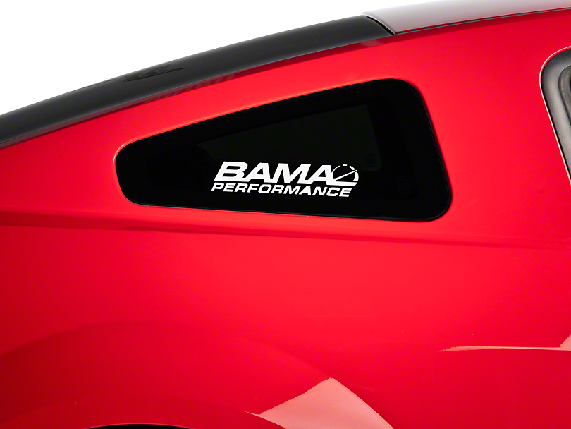Bama Performance Quarter Window Decal - White (79-17 All)