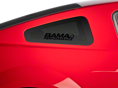Bama Performance Quarter Window Decal - Black (79-14 All)