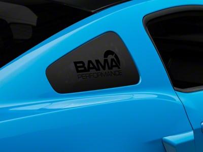 Bama Performance Quarter Window Decal - Black (05-14 All)