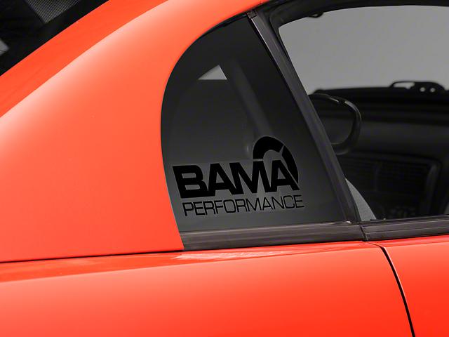Bama Performance Quarter Window Decal - Black (94-04 All)