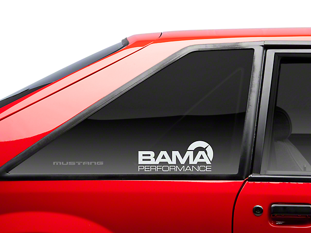 Bama Performance Quarter Window Decal - Frosted (79-93 All)