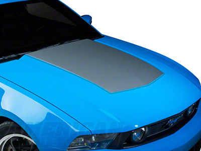 Silver Boss Style Hood Decal (10-12 GT, V6)
