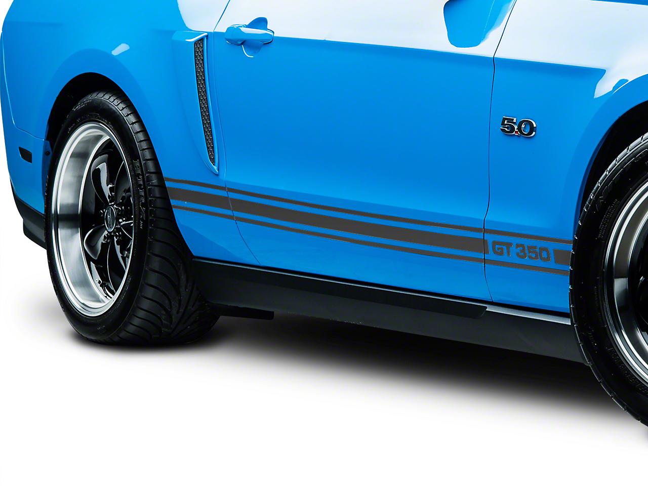 Matte Black Rocker Stripes w/ GT350 (05-14 All)
